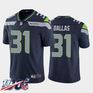 Seattle Seahawks DeeJay Dallas Navy Jersey